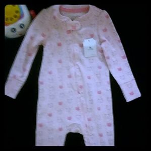 🔦$8🔥BABY GAP BABY GIRL'S FOOTIE Sz 6-9M